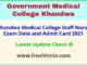 GMC Khandwa Staff Nurse Hall Ticket 2021
