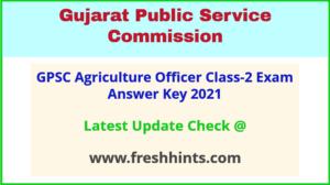 Gujarat AO Answer Sheet 2021
