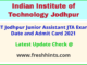 IITJ Non Teaching Exam Hall Ticket 2021
