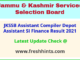 Jammu and Kashmir SSB 1997 Posts Selection List 2021