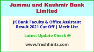 JKB RSETI Faculty OA Selection List 2021