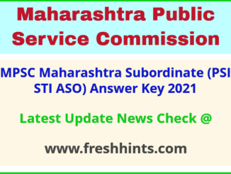 Maharashtra Subordinate Services Exam Answer Sheet 2021