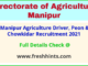 manipur agriculture driver, peon & chowkidar recruitment 2021