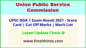 NDA Selection List 2021