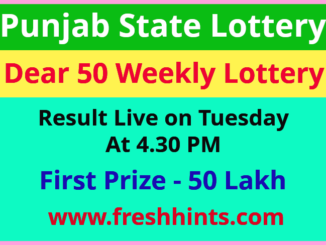 Punjab Lottery Dear 50 Weekly Winner List 2021