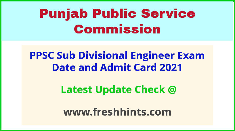 Punjab SDE Civil Exam Admit Card 2021