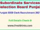 punjab sssb clerk recruitment 2021