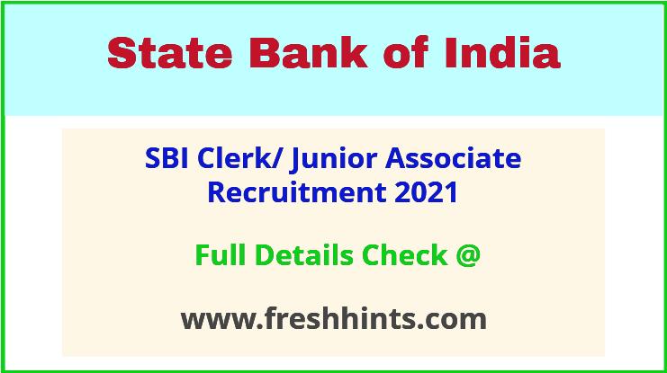 SBI Junior Associate Vacancy 2021