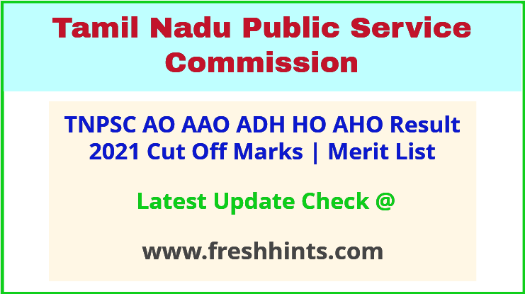 TN Agriculture Officer Horticulture Officer Selection List 2021