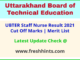 Uttarakhand Staff Nurse Selection List 2021