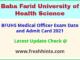 Baba Farid University MO Roll No 2021