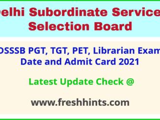 Delhi Post Graduate Teacher Exam Hall Ticket 2021