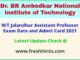 NIT Jalandhar Faculty Exam Hall Ticket 2021